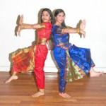 Veena & Madhawie in a Bharat Natyam pose