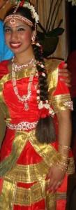 Madhawie in Bharat Natyam kleding